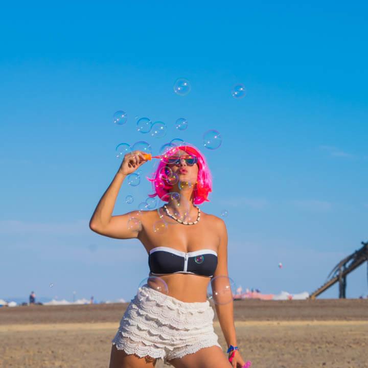 Afrikaburn 2017 bubbles radical self expression burner girls
