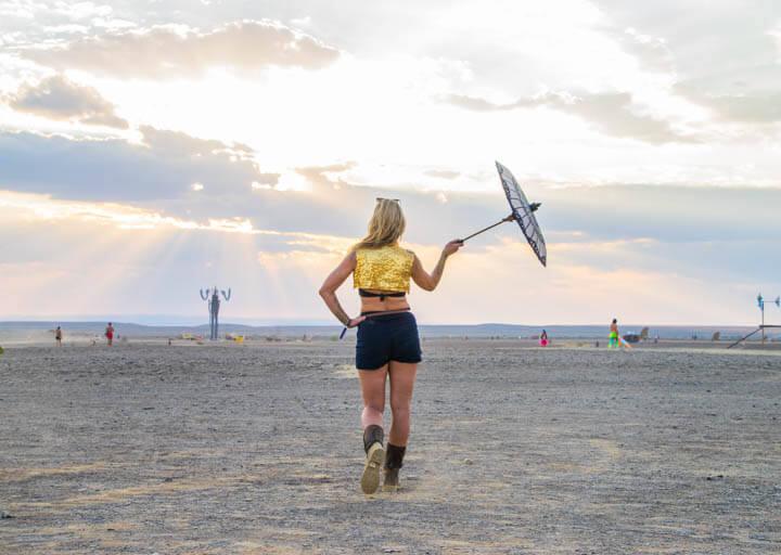 Afrikaburn 2017 binnekring sunset