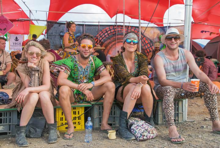 Afrikaburn 2017 binnekring sunset camping at music festivals