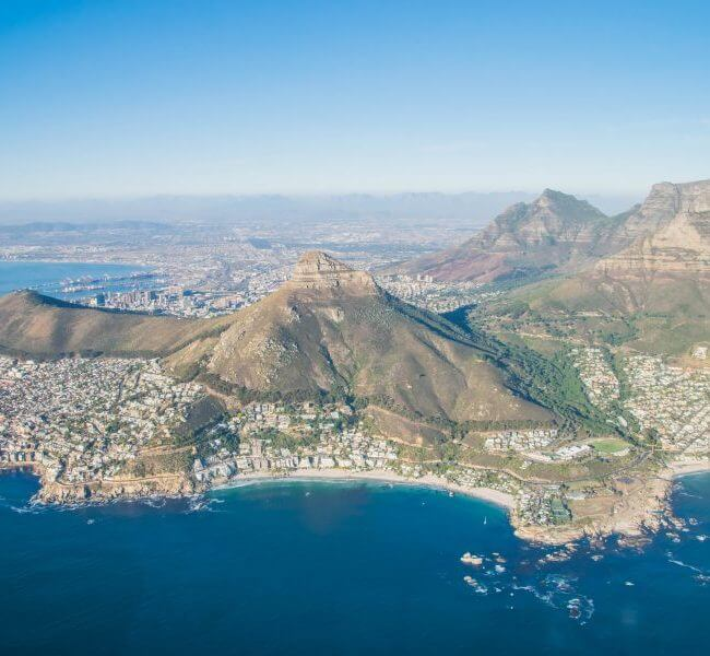 cape town skyline helicopters cape town guide