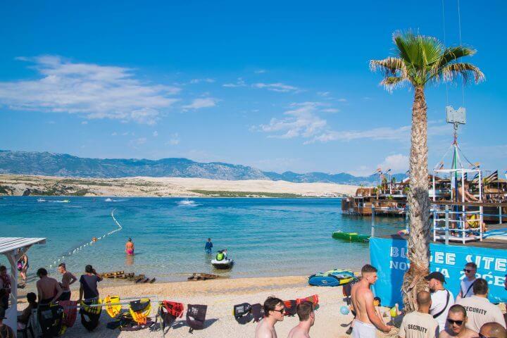 hideout festival venue zrce beach