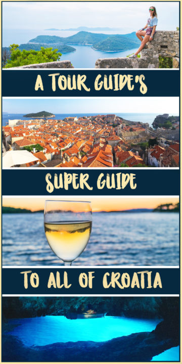 And now, the most ever-extensive, totally comprehensive, tour guide's guide to croatia. Including Croatian cities, history, adventures, alphabet, sailing, ferries, sunsets, and EVERYTHING!