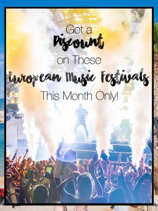 Save money on european music festivals