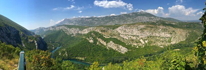 view ziplining in croatia cetina river omis