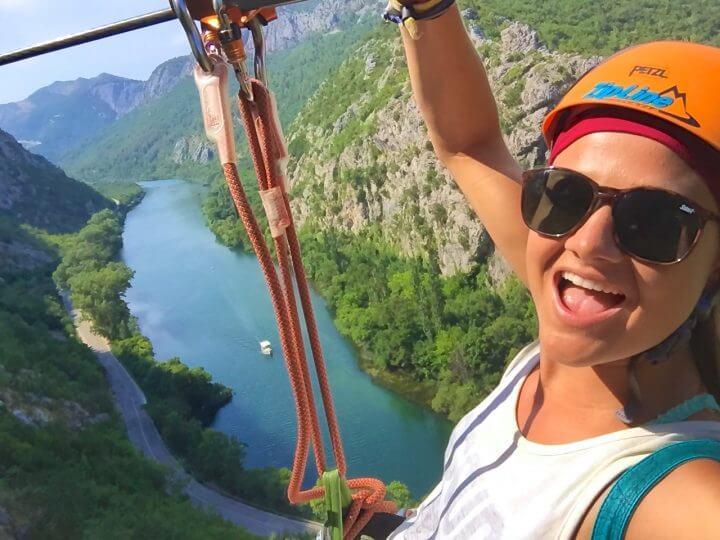 ziplining in makarska omis split croatia