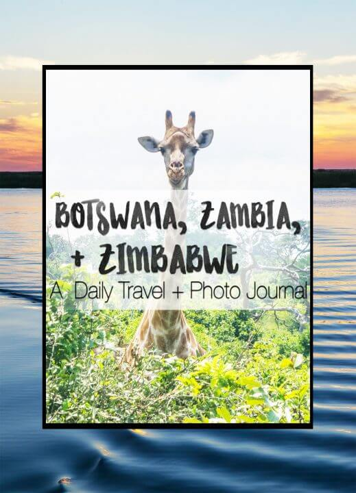 An overland road trip through botswana, zambia, and zimbabwe in Africa - days 12-21 of my african adventure. The okavango Delta, Chobe National Park, Victoria Falls + Angel's Pool, Livingstone, Bulawayo and Matobo NP Zimbabwe.