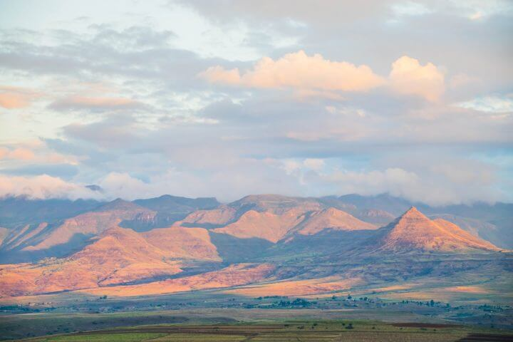 where is lesotho mountains malealea