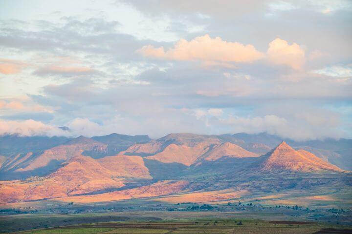 where is lesotho mountains malealea