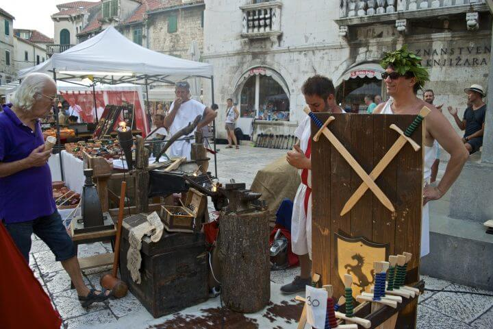 guide to Split: locals dress up like ancient romans for Diocletian Day