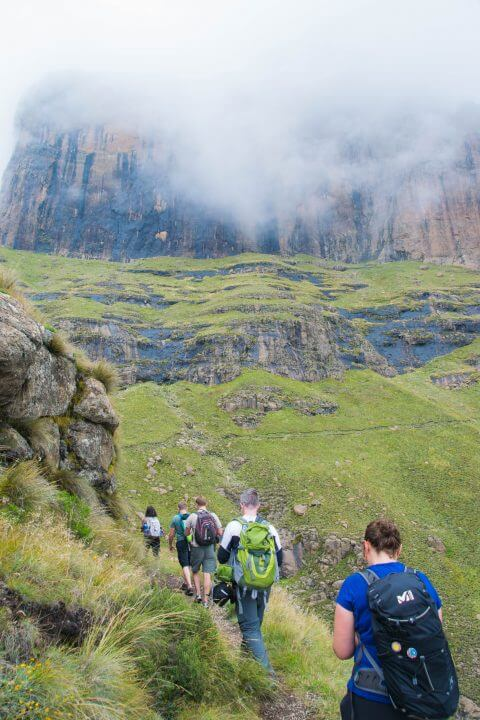 A Tugela Falls Hike in the Drakensburg Mountains, South Africa/Lesotho Border fog