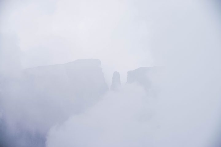 A Tugela Falls Hike in the Drakensburg Mountains, South Africa/Lesotho Border Devil's tooth fog