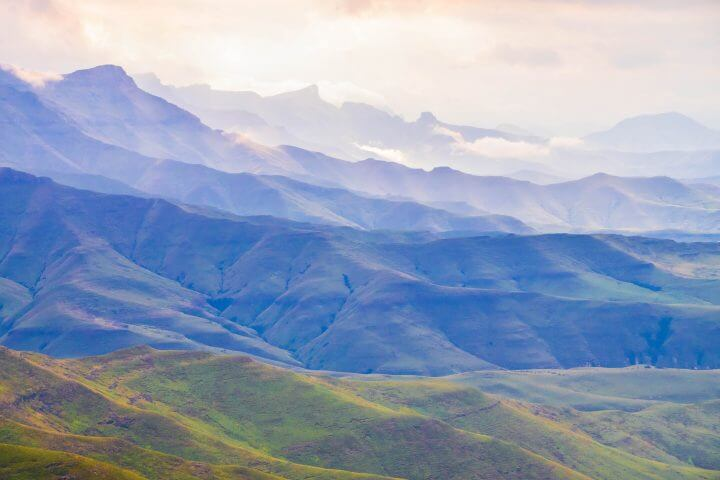 where is lesotho? drakensburg ranges
