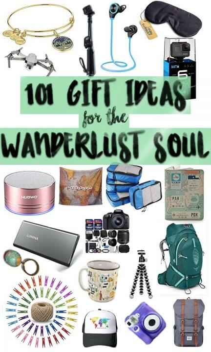 No, I am not kidding when I say here are 101 GIFT IDEAS for adventurers, wanderlusters, and travellers! See if you can find something you wouldn't have thought of before.