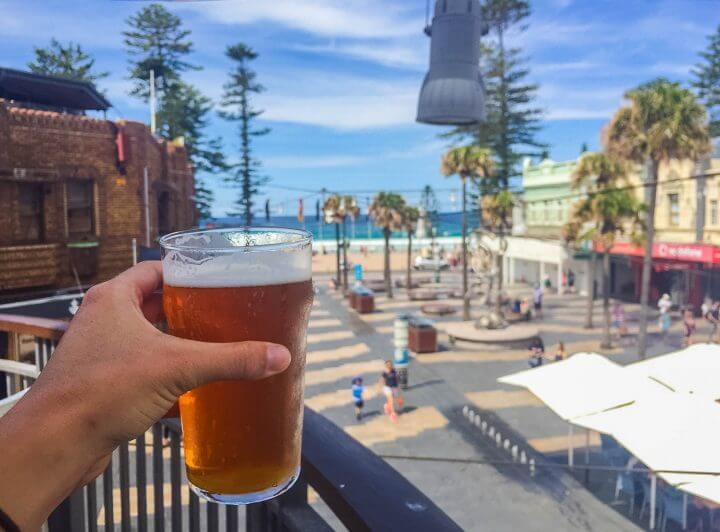 guide to manly beach beer on the corso best hotels and restaurants in Manly