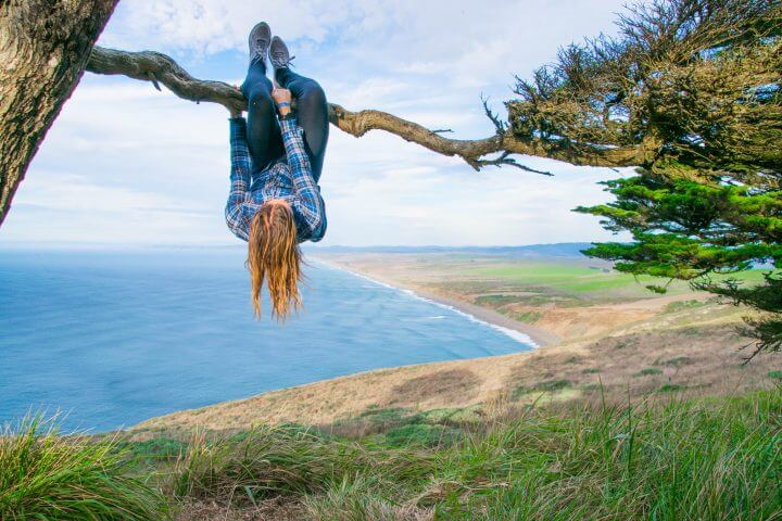 PCH road trip stops on Highway 1 Road Trip california coast point reyes tree climbing monkey travel blogger kimmie conner Adventures & Sunsets
