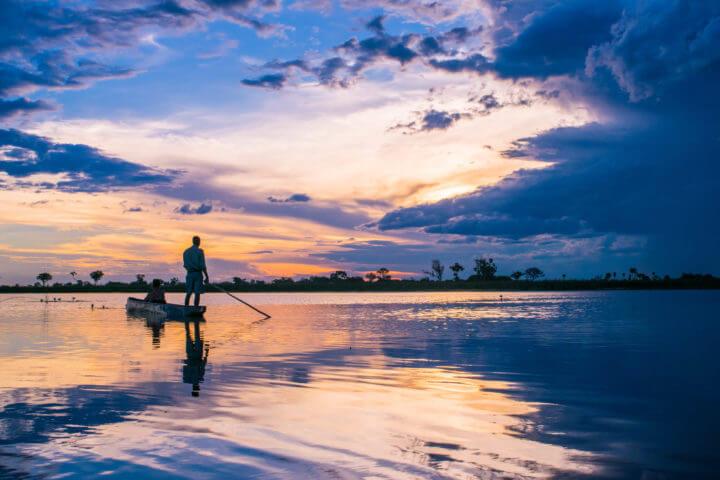 best african sunsets okavango delta botswana