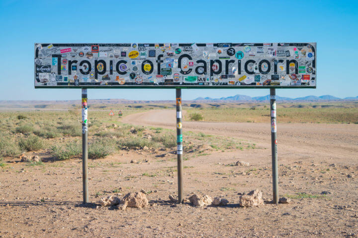Namibia Road Trip itinerary tropic of capricorn