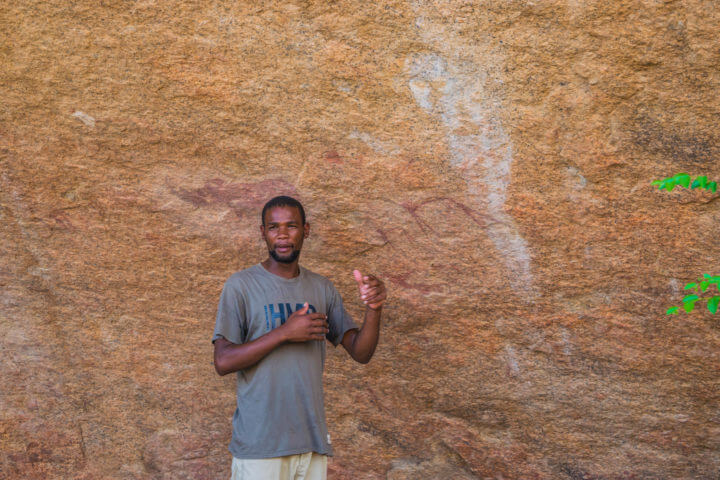 Namibia Road Trip africa spitzkoppe bushmen cave paintings