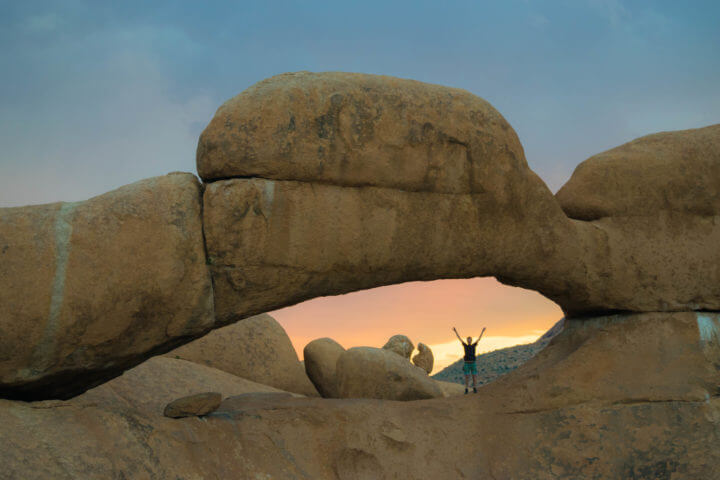 Namibia Road Trip africa spitzkoppe rock arch sunset