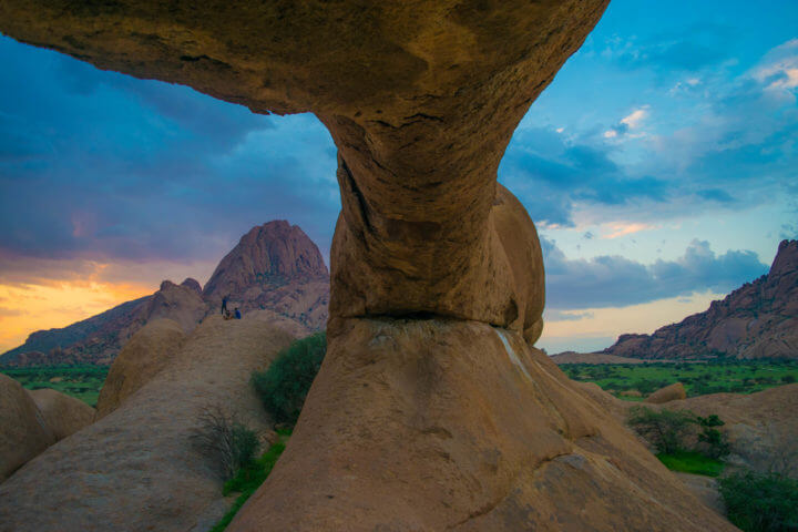 Namibia Road Trip africa spitzkoppe sunset view rock
