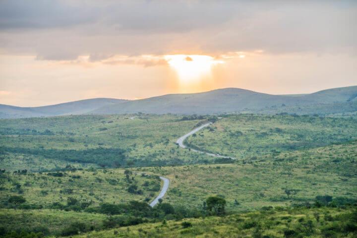 african sunsets Hluhluwe national park