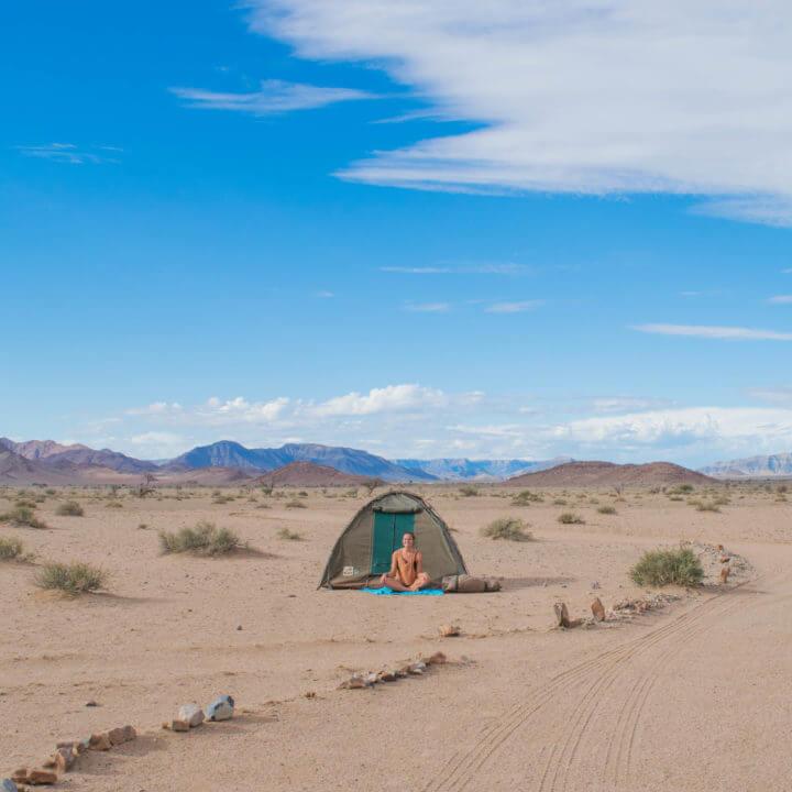 little sossus Namib desert Namibia road trip camping in Africa