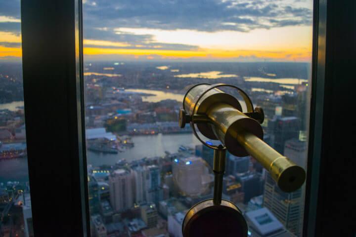 best sydney sunset spots - sydney tower eye