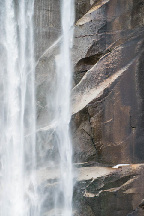 yosemite vernal falls abstract photography
