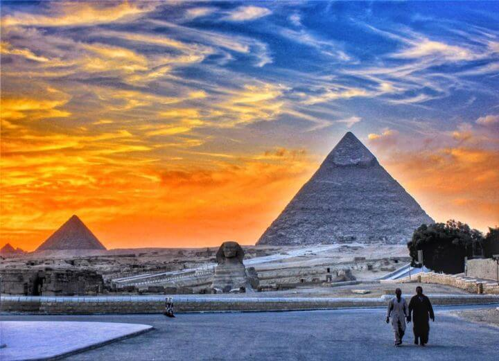 african sunsets: cairo Egypt pyramids