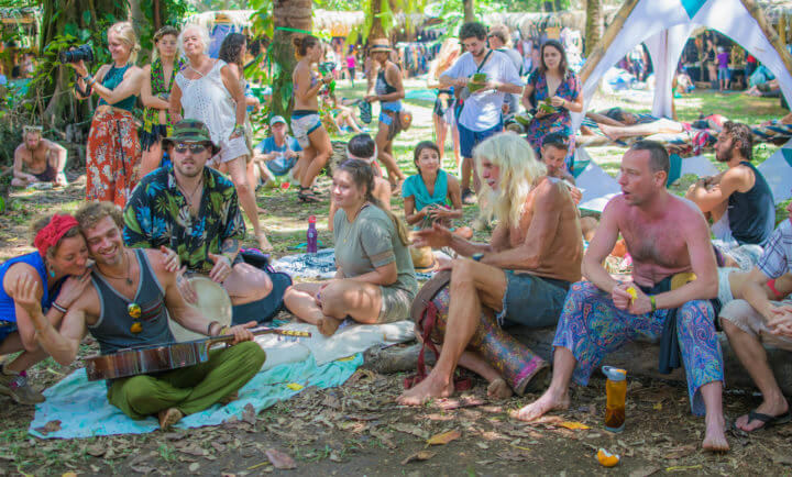 Envision Festival Guide Review The Village drum circle
