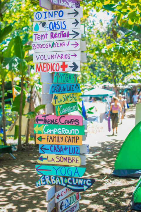 Envision Festival Guide Review sign posts