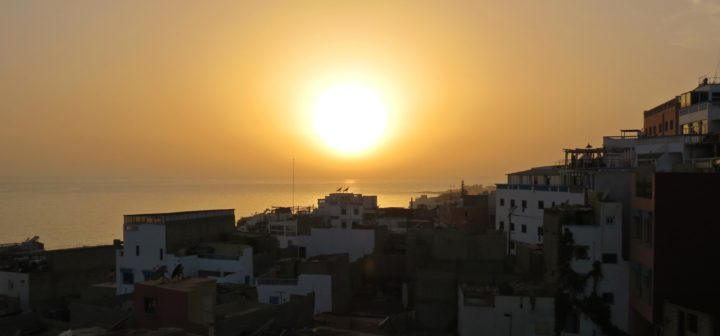 Taghazout morocco unsets in africa