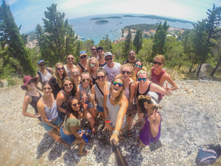 croatia sailing tours for young people hvar selfie go pro