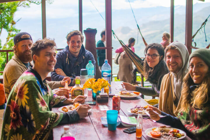 lost and found hiking hostel in panama family dinners