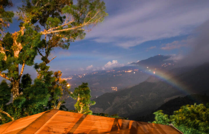 moonbow Lost and Found Hostel panama volcano view