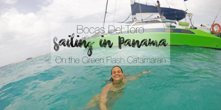 Bocas Del Toro Sailing in Panama on the Green Flash Catamaran