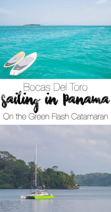 sailing in bocas del toro, Panama on the Green Flash Catamaran - tailored adventure sailing tours with surfing, snorkeling, swimming, hiking, and more!