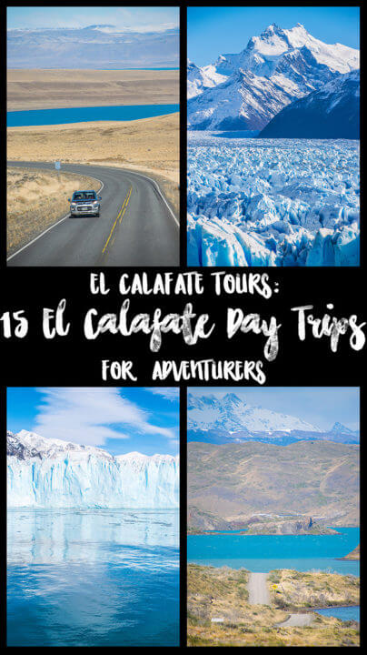 El Calafate is an adventure hub of Patagonia, offering many El Calafate day trips to easily see lots of surrounding beauty from one home base. Check out these 15 El Calafate Tours do take part in in Argentinian Patagonia! #Patagonia #Travel #ElCalafate #Argentina #Chile #adventure #adventuretravel #Torresdelpaine #glacier #roadtrip