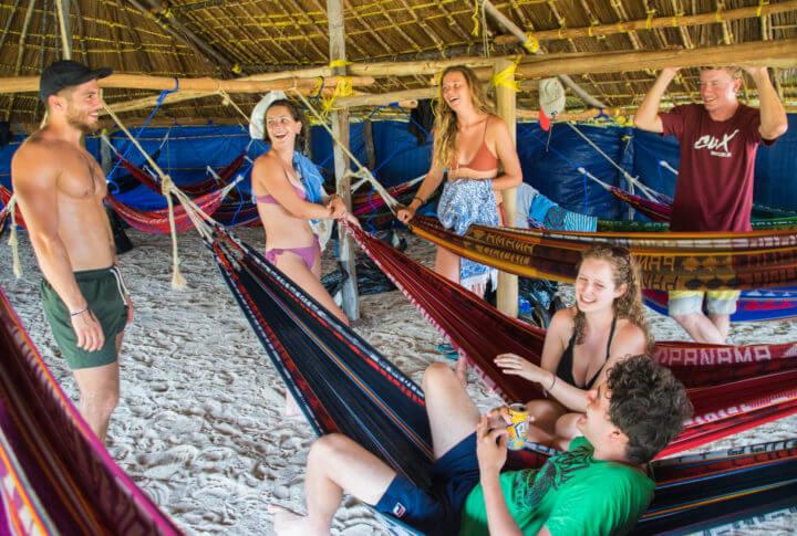 san blas adventures anama to colombia accommodation hammocks