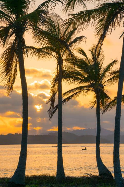 sunset san blas sailing islands sailing panama to colombia