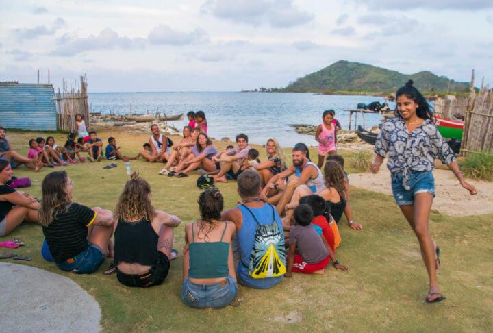 kuna village indigenous tribes san blas islands panam to colombia sail speedboat