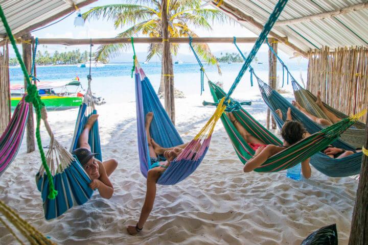 hammocks san blas sailing accommodation adventures sailing panama to colombia
