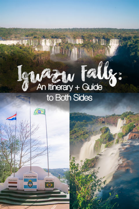 visiting iguazu falls on both the Argentinian and Brazillian sides, plus what to do and where to stay in Puerto Iguazu too for a 2-3 day Iguazu Falls Itinerary #IguazuFalls #IguassuFalls #IguacuFalls #PuertoIguazu #Waterfalls #cataratasdeIguazu #southamerica #itinerary #travel #travelblog #southamericatravel