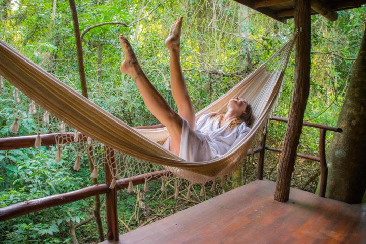where to stay in iguazu falls la aldea de la selva lodge hammock bacony suite