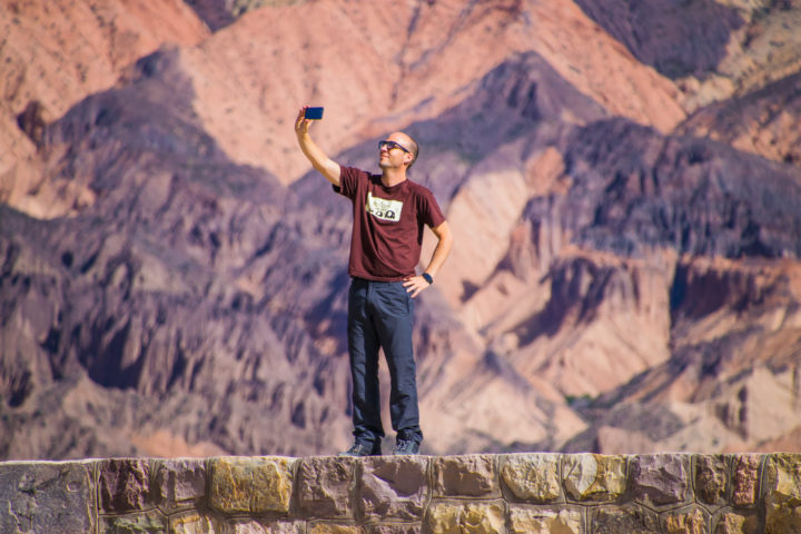 pucara de tilcara quebrada de humahuaca tour selfie colorful mountains