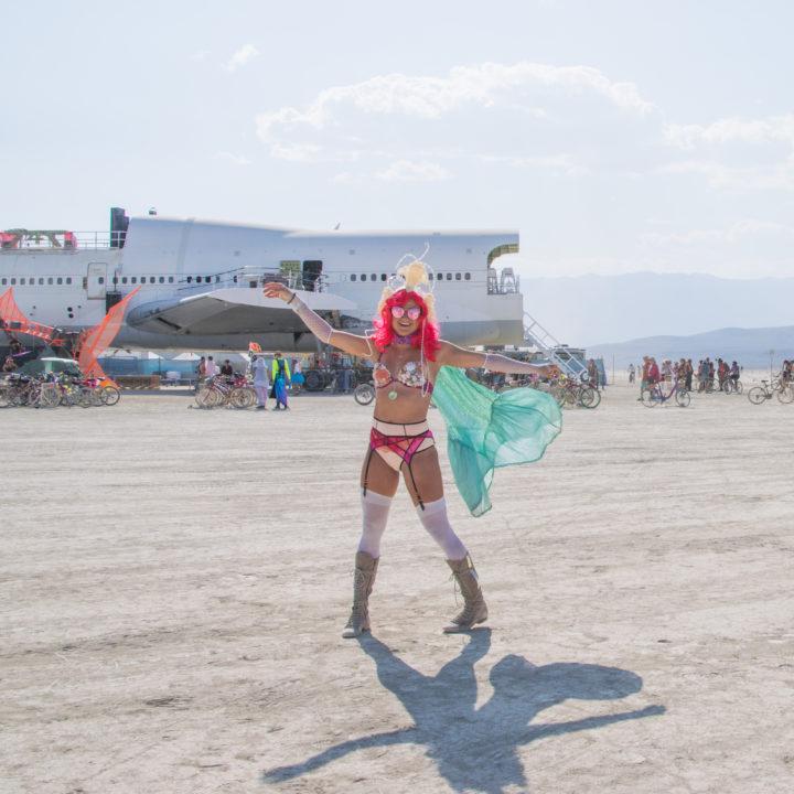 747 airplane burning man costumes girls