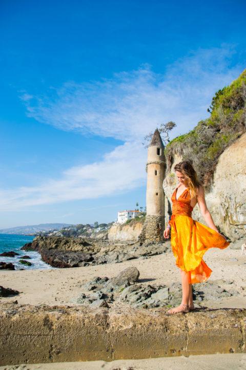 Laguna Beach Victoria Beach lighthouse tower california road trip