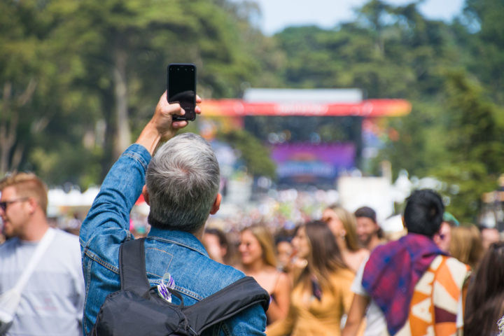 outside lands festival guide selfie