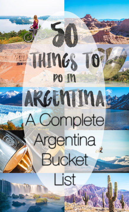 50 Things to do in Argentina
