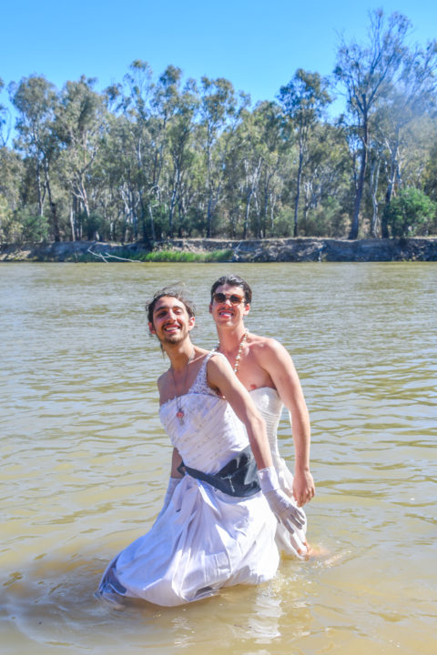 Strawberry Fields costumes clothing dress up wedding dresses in the river